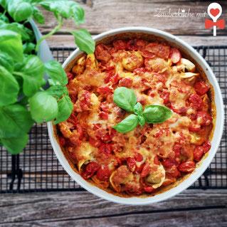 Tortellini, Ofenhexe Pampered Chef®, Tortellini, Auflauf
