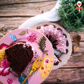 Gugelhupf, Rezept, Rotweinkuchen, Zauberküche mit Herz