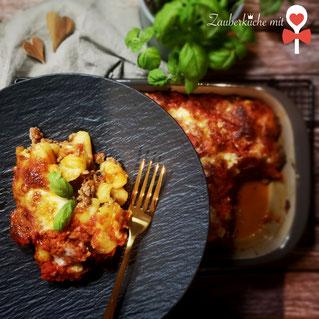 Gnocchi-Hackfleisch Auflauf, Pasta Rezept, Zauberküche mit Herz Blog