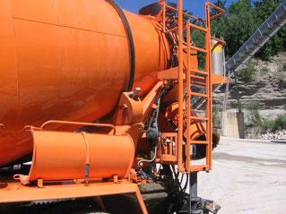 Anwendung Molytrop Trockenschmierstoffe an Betonmischer