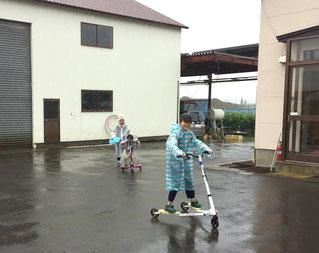 雨の日も子供達は元気に遊んでくれます。