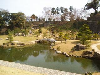 早春の玉泉院丸庭園