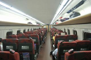 北陸新幹線はまあまあ混んでいました