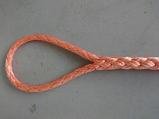 ダイニーマロープのアイ加工