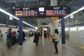 金沢駅のプラットホーム