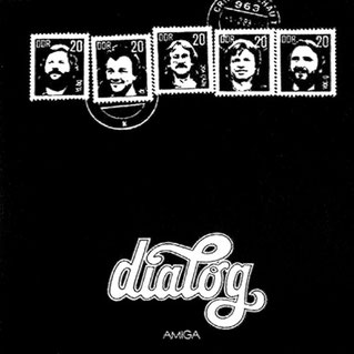 Der ziemlich ähnliche Schriftzug der DDR-Gruppe Dialog auf deren AMIGA- LP von 1983