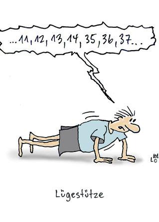 Lo Graf von Blickensdorfs Cartoon