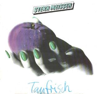 """Erschienen 1985 bei AMIGA. Das Stern Meissen-Album """"Taufrisch"""" mit dem experimentellen Coverbild des Dresdner Künstlers Jürgen Haufe"""
