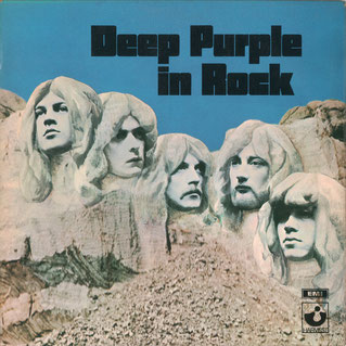 Mount Rushmore National Memorial mit den Köpfen der Hard Rock-Band Deep Purple