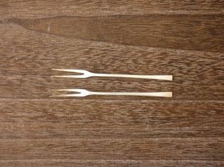 フルーツフォーク 10cm(銀) ¥1,900〜2,100