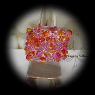 Finger Schmuck Belles petites fleurs Crystal