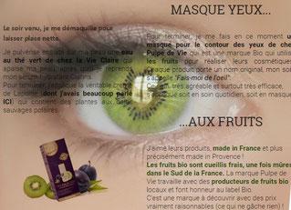 masque hydratant pour les yeux