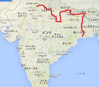 インドネパール走行ルート