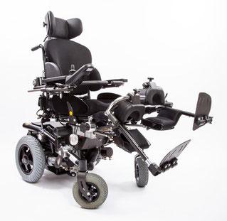 Einzeln elektrisch verstellbare Beinstützen