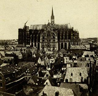 Kölner Dom, Südseite 1863 (Slg. Dr. Bartsch)