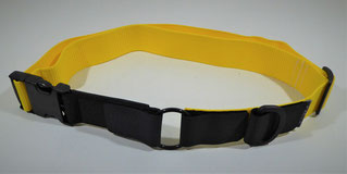 Kombi-Pferdehalsband schwarz/gelb