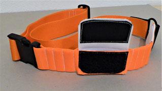 Pferdehalsband mit Tracker-Tasche