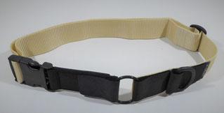 Kombi-Pferdehalsband schwarz/beige