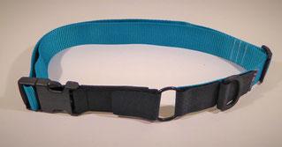 Kombi-Pferdehalsband schwarz/türiks