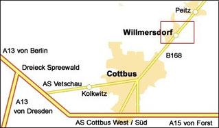 Anfahrt SG Willmersdorf