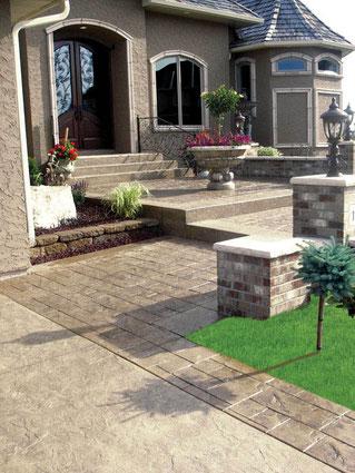 Hormig n impreso y pavimentos precios m2 galistar - Pavimentos para terrazas ...
