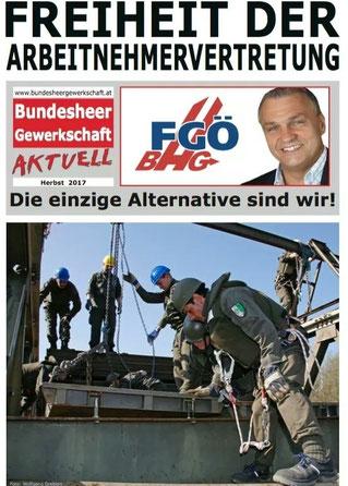 FGÖ/BHG Bundesheergewerkschaft. Die einzige Alternative.