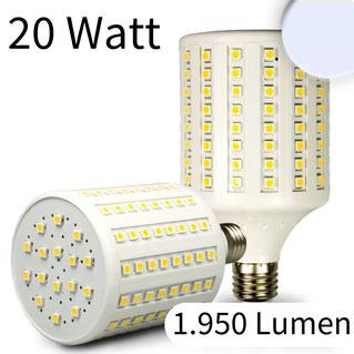 E27 Corn Leuchte, 136 SMD, 20W, kaltweiss, Lumen 1.950lm