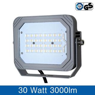 LED Fluter 30W, 3000lm, tageslichtweiss, 6000k