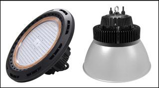 LED Hallenstrahler - UFO Leuchte / mit und ohne Schirme
