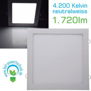 LED Licht-Panel 12W, 296x296mm, 4200K, neutralweiß,
