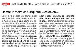 La réaction du maire de Carquefou