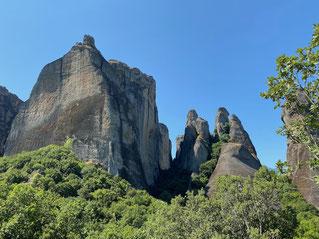 Nicht nur die Meteora Klöster, sondern die Felsen sind toll