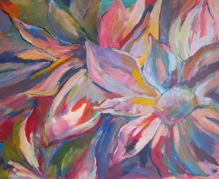 Blüten– Acryl auf Leinwand – 90x100 cm – 2013