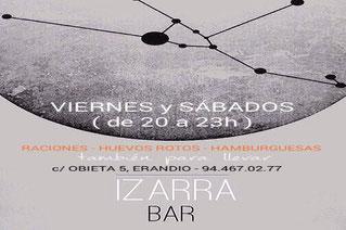 Izarra Bar. Calle Obieta 3, Bajo. Erandio 48950 (Bizkaia) 944 670 277