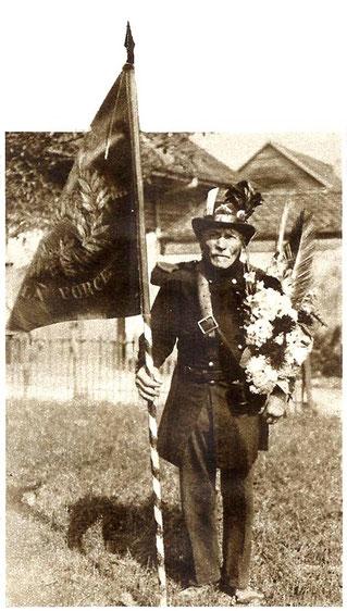 Edgar Rochat von Le Pont (1945-1929), als stolzer Carabinier. Illustriert am 31. August 1926