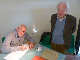 Bernard Le Breton et Gilles Durant des Aulnois ancien Maire de Ligny-le-Ribault