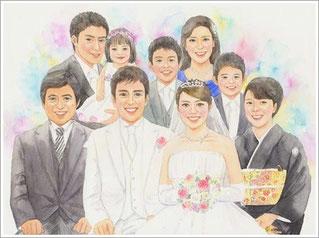 結婚式の似顔絵プレゼント1-2