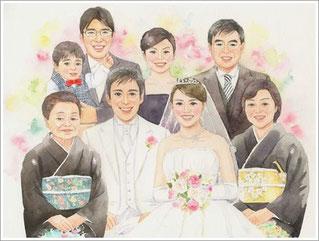 結婚式の似顔絵プレゼント1-1