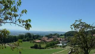 Blick über den Dorfkern von Rumiberg