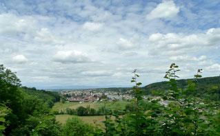 Blick beim Turm de Milandre auf Boncourt