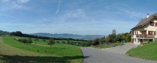 Panorama-Blick vom Steffen Himmelried ins Laufenbecken