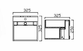 Skizze Waschtisch WB1360