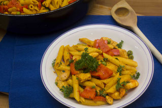 Penne Paella Pasta Rezept