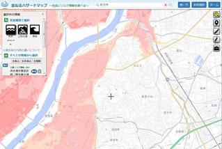 枚方市 洪水のハザードマップ