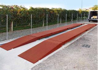 Italian transportable weighbridge