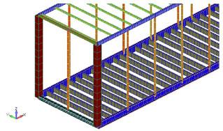 Beamモデル図(断面可視化表示)フロント拡大部