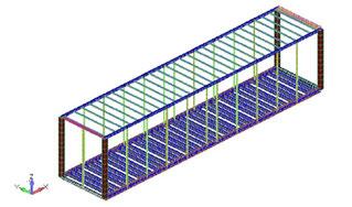 全体Beamモデル図(断面可視化表示)