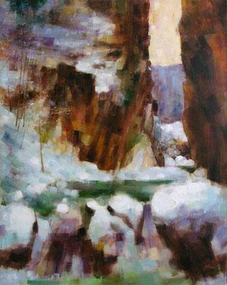 LE PAS DE CELE (huile sur toile) 92 x 73 cm JF.Millan