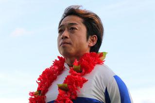 藤原幹生騎手(勝利セレモニー)