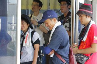 東川公則騎手が検量所に解説に来てくれました